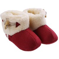 Baby Soft Sole Snow Boots Soft Crib Shoes Toddler Shoes Winter Warm Fleece Baby Snow Boots Moccasins Shoes For Chrismas Gift