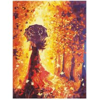 Beautiful Women Autumn Landscape DIY Painting Coloring By Numbers Gift
