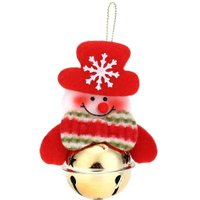 Deer Snowman Santa Bell Xmas Tree Decorations Merry Christmas Gifts Ornaments New Year Decorations for Home