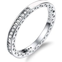 Fashion Shine Wedding Rings Women Single Row of Rhinestones Ring Female Micro-Inlaid Tail Rings Jewelry Gift
