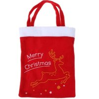 Red Christmas Candy Bags Christmas Gift Bag Decoracion Navidad Festive Wedding Supplies Santa Claus Candy Bag