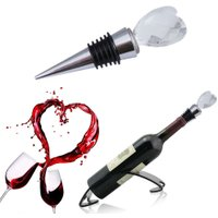 Wine Stopper Red Wine Bottle Stopper Elegant Heart Shaped Red Wine Bottle Stopper Twist Wedding Favors Gifts for Home Bar