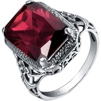 Women Retro Bright Personality Fashion Ruby Engagement Ring Jewelry Gift(7)